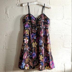 Xhilaration a-line floral dress
